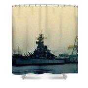 Battleship New Jersey Shower Curtain