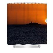 Battleship Sunset Shower Curtain