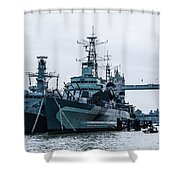 Battleships And Tugboat Shower Curtain