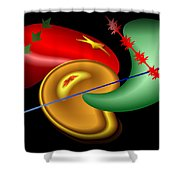 Baubles And Barbs Shower Curtain
