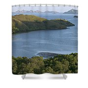 Bay And Outlying Islands Off Rinca Shower Curtain