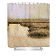 Bay City Pier Shower Curtain