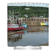 Bay Of Fundy - Low Tide Shower Curtain