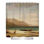 Bay Of Salerno Shower Curtain