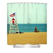 Baywatch Shower Curtain