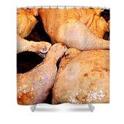 Bbq Chicken Shower Curtain