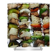 Bbq Grilled Vegetables Shower Curtain
