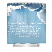 Be Filled 1762 Shower Curtain