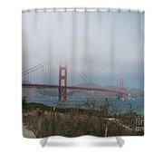 Be In A Mist - Golden Gate Bridge Shower Curtain