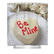 Be Mine Heart Cake Shower Curtain
