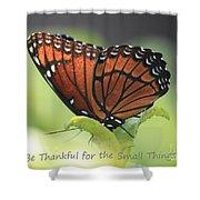 Be Thankful Shower Curtain by Carol Groenen