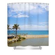 Beach And Sea On Costa Del Sol Shower Curtain