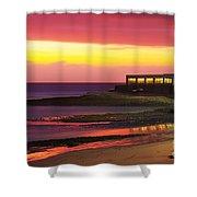 Beach At Sunset Shower Curtain