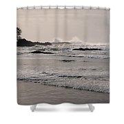 Beach At Tofino  Shower Curtain