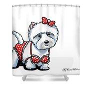 Beach Babe Westie Shower Curtain