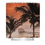 Beach Belize Shower Curtain