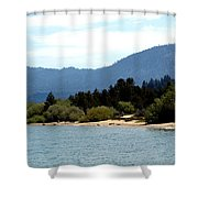 Beach Biking Lake Tahoe Shower Curtain