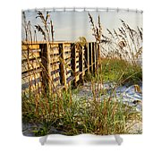 Beach Boardwalk Shower Curtain
