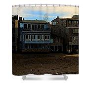Beach Buildings - Greeting Card Shower Curtain