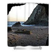 Beach Cave At Bandon Oregon Shower Curtain