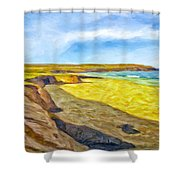 Beach Cliffs South Of San Onofre Shower Curtain