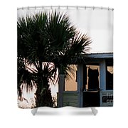 Beach Cottage Clothesline Shower Curtain