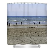 Beach Cricket - Bridlington Shower Curtain