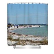 Beach Day On Honeymoon Island Shower Curtain