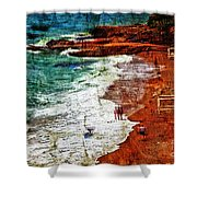 Beach Fantasy Shower Curtain by Madeline Ellis