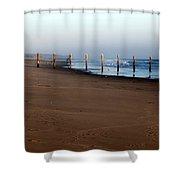 Beach Fence Shower Curtain