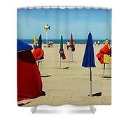 Beach In Deauville Shower Curtain