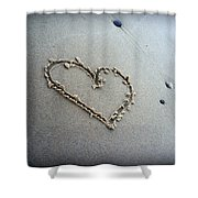 Beach Love Shower Curtain