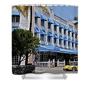 Beach Paradise Hotel Shower Curtain