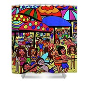 Beach Party Shower Curtain