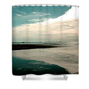 Beach Reflection Shower Curtain
