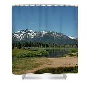 Beach Reflections At Mt Tallac Shower Curtain