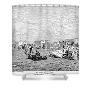 Beach Scene, 19th Century Shower Curtain