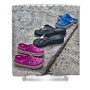 Beach Shoes Shower Curtain