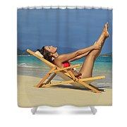 Beach Stretches Shower Curtain