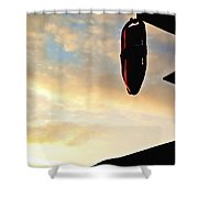 West Coast Beach Sunset Shower Curtain