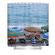 Beach Umbrellas 2 Shower Curtain