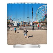 Beach View Shower Curtain