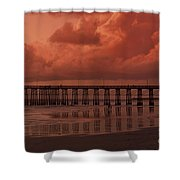 Beachcombing At Oceanside Pier Shower Curtain