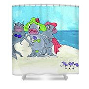 Beached Ladies Shower Curtain