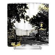 Beacon Rock Gate Newport Ri Shower Curtain
