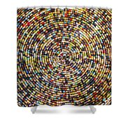 Beaded Indian Work Shower Curtain