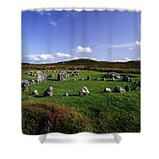 Beaghmore Stone Circles, Co. Tyrone Shower Curtain by The Irish Image Collection