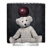 Bear And Apple Shower Curtain