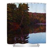 Bear Creek Lake In The Poconos Shower Curtain