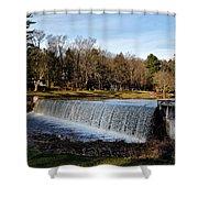 Bear Creek Lake Waterfall Shower Curtain